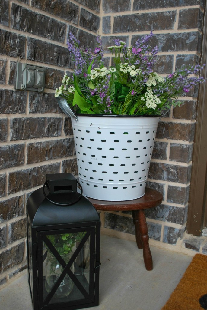 Spring Front Porch Decor Refresh Faux Flowers