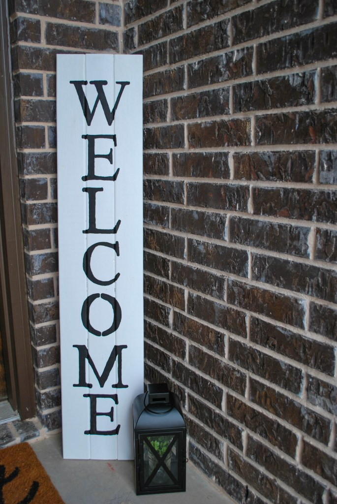 DIY Wooden Welcome Sign Spring Front Porch Decor Refresh