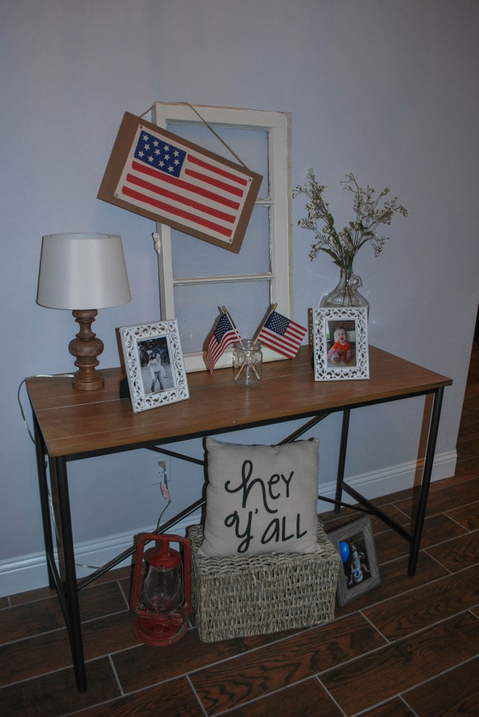 4th of July, Patriotic Decor, July Goals, Entryway Decor, Farmhouse Entry