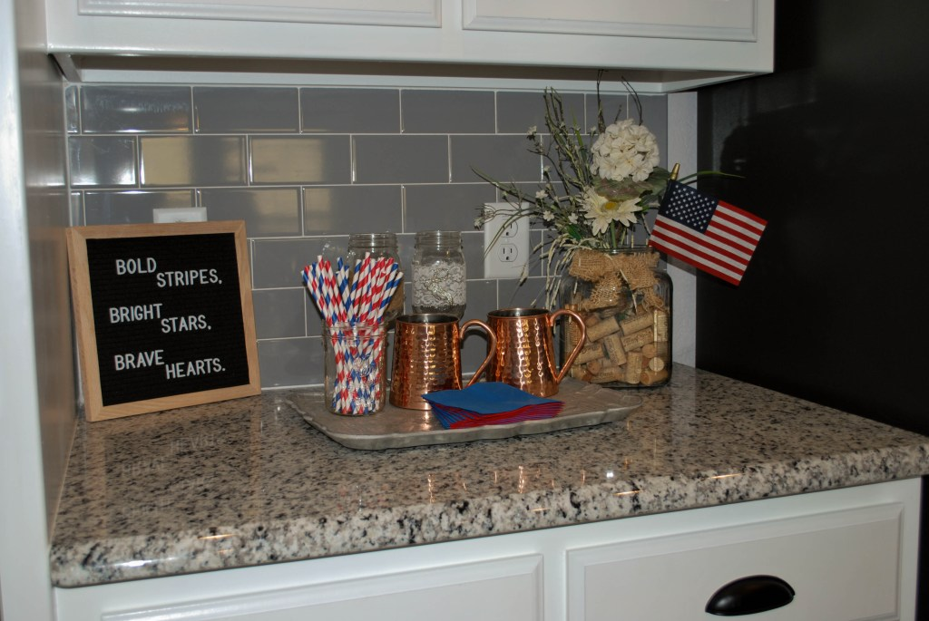 Patriotic Decor, July Goals, 4th of July, Mini Bar, Happy Hour