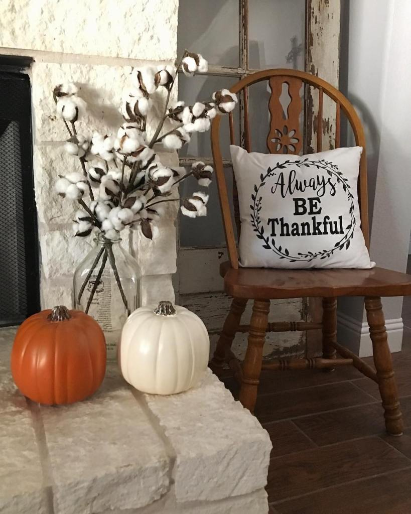 Fall Home Tour, Simple Fall Decor, Home Tour 2018, Black and White Decor, Faux Pumpkins, White Pumpkins