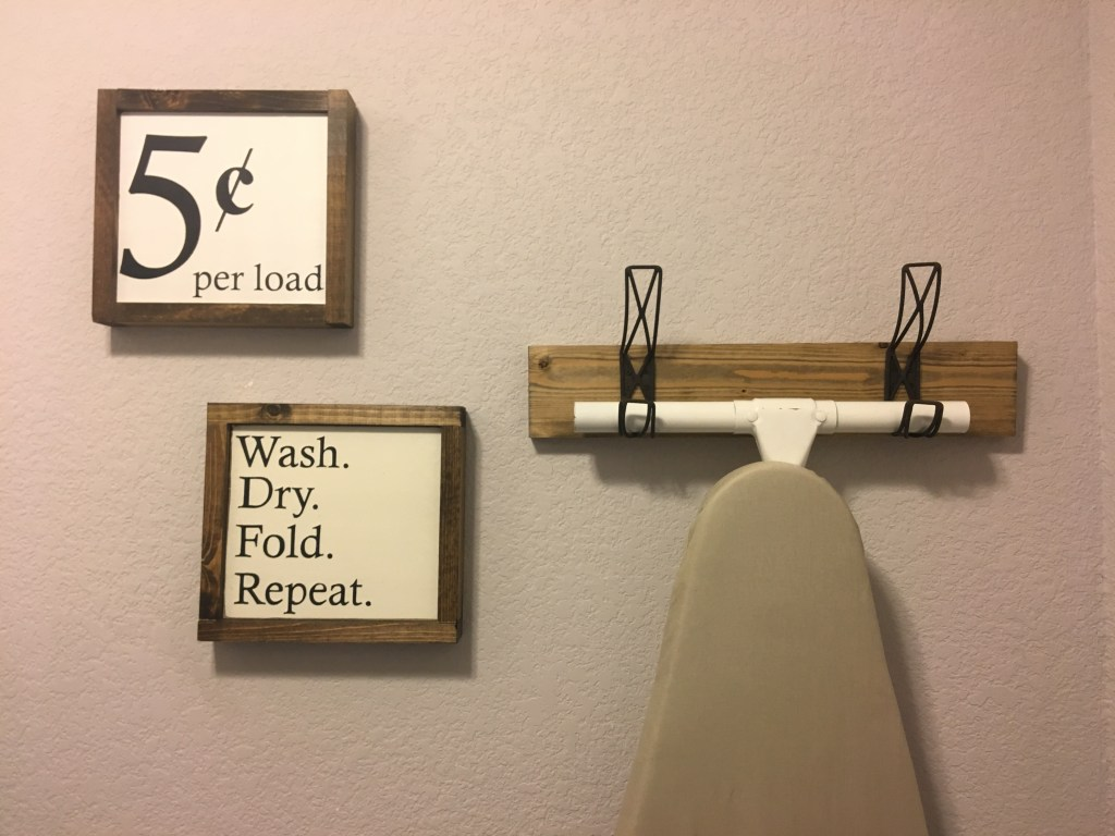 DIY, Wood work, Laundry Room, Ironing Board, Hobby Lobby, Home Depot