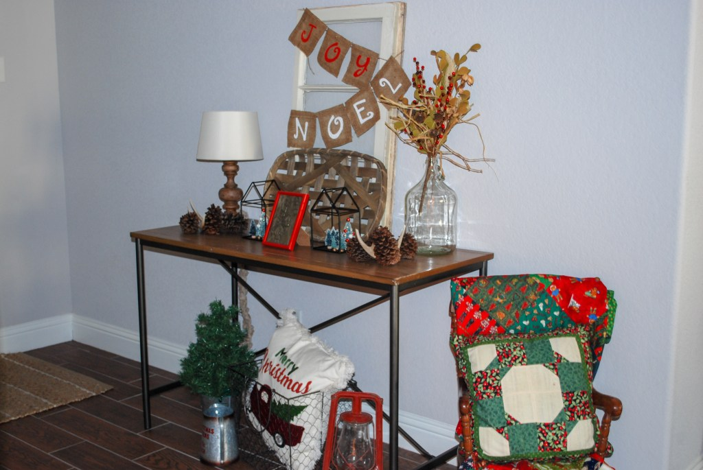 Christmas Decor, Home Tour, Farmhouse Christmas, Entryway