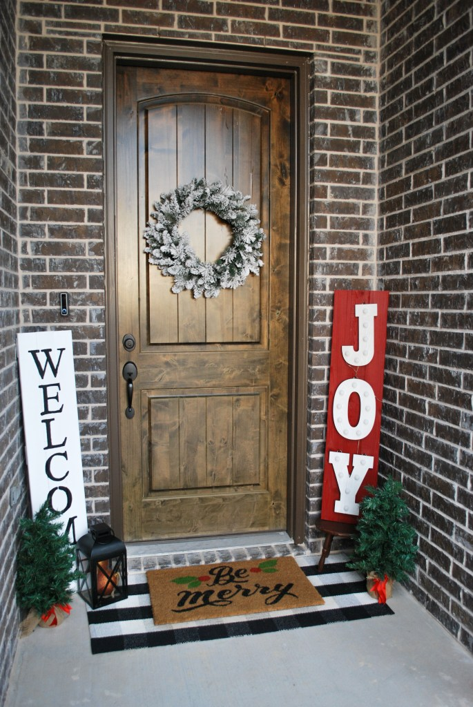 Rustic Christmas, Front Porch Decor, Buffalo Check