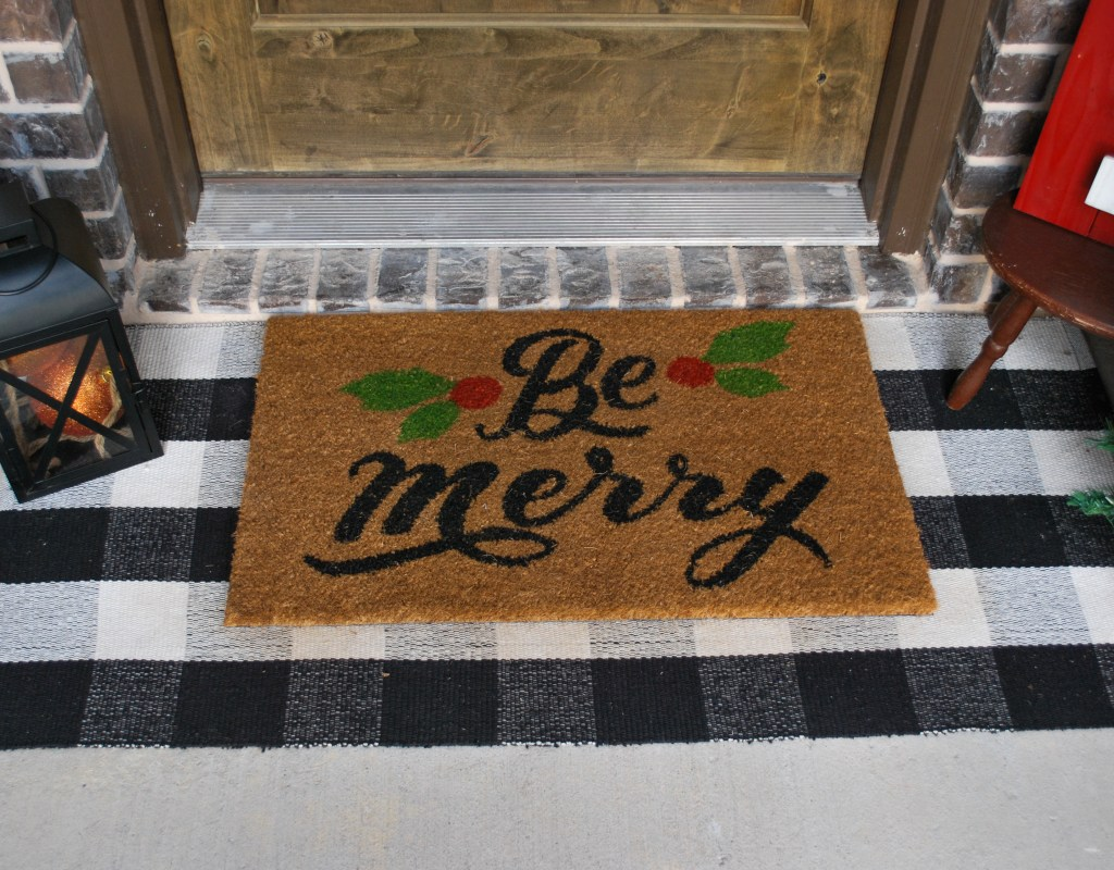 Rustic Christmas, Front Porch, Front Porch Decor, Buffalo Check