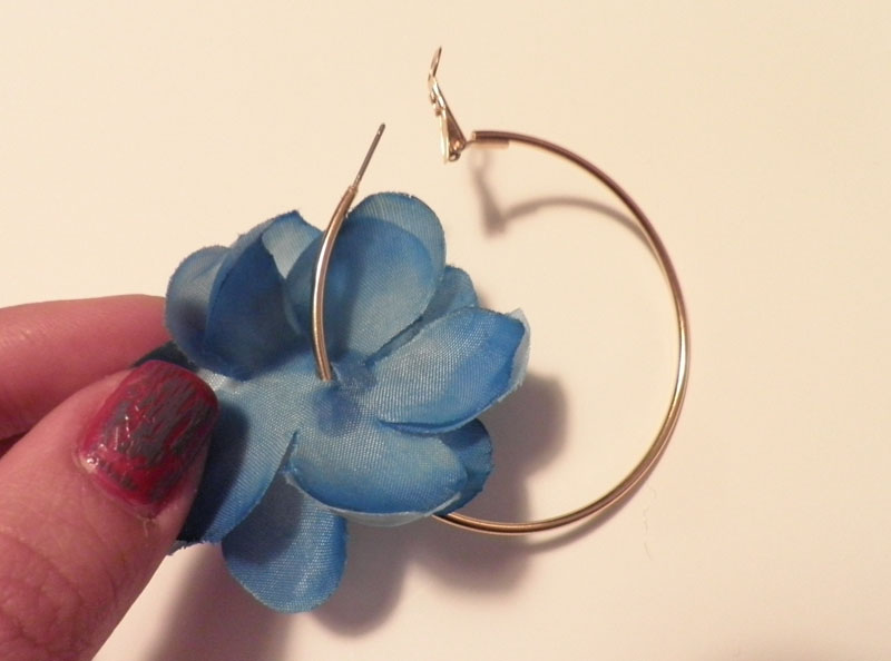 DiY Flower Hoop Earrings Spit Up Is The New Black