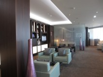 Lounge area of the Etihad lounge in Paris