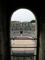 Roman archway with seating in a Roman arena