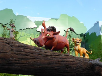 Lion King statues at Disney World Art of Animation resort - A Frugal Mom's Guide To Disney - 10 Ways To Save At Disney