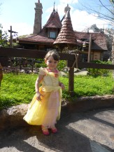 Girl in princess dress at Disney World - A Frugal Mom's Guide To Disney - 10 Ways To Save At Disney