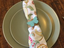 napkin ring made from craft tube, burlap and spring chipboard craft supply - 10 Cheap & Easy Spring Crafts