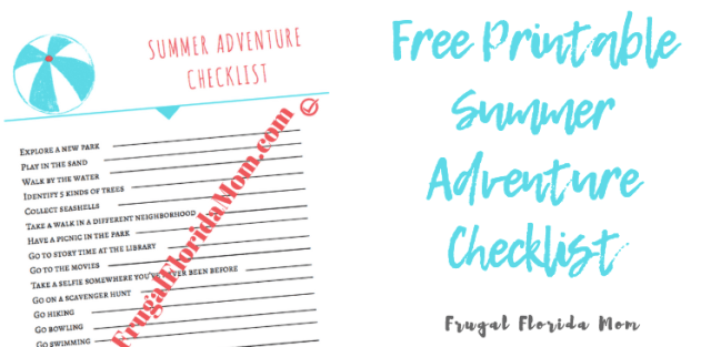 Free Printable Summer Adventure Checklist