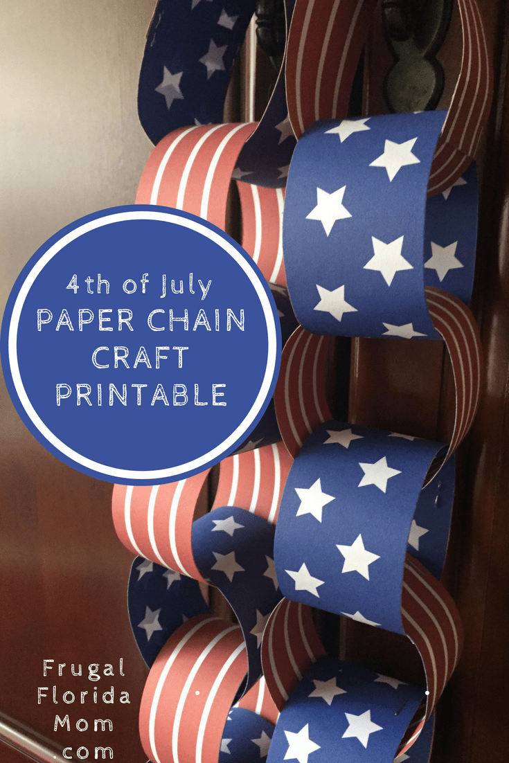 Fourth Of July Paper Chain Craft Printable
