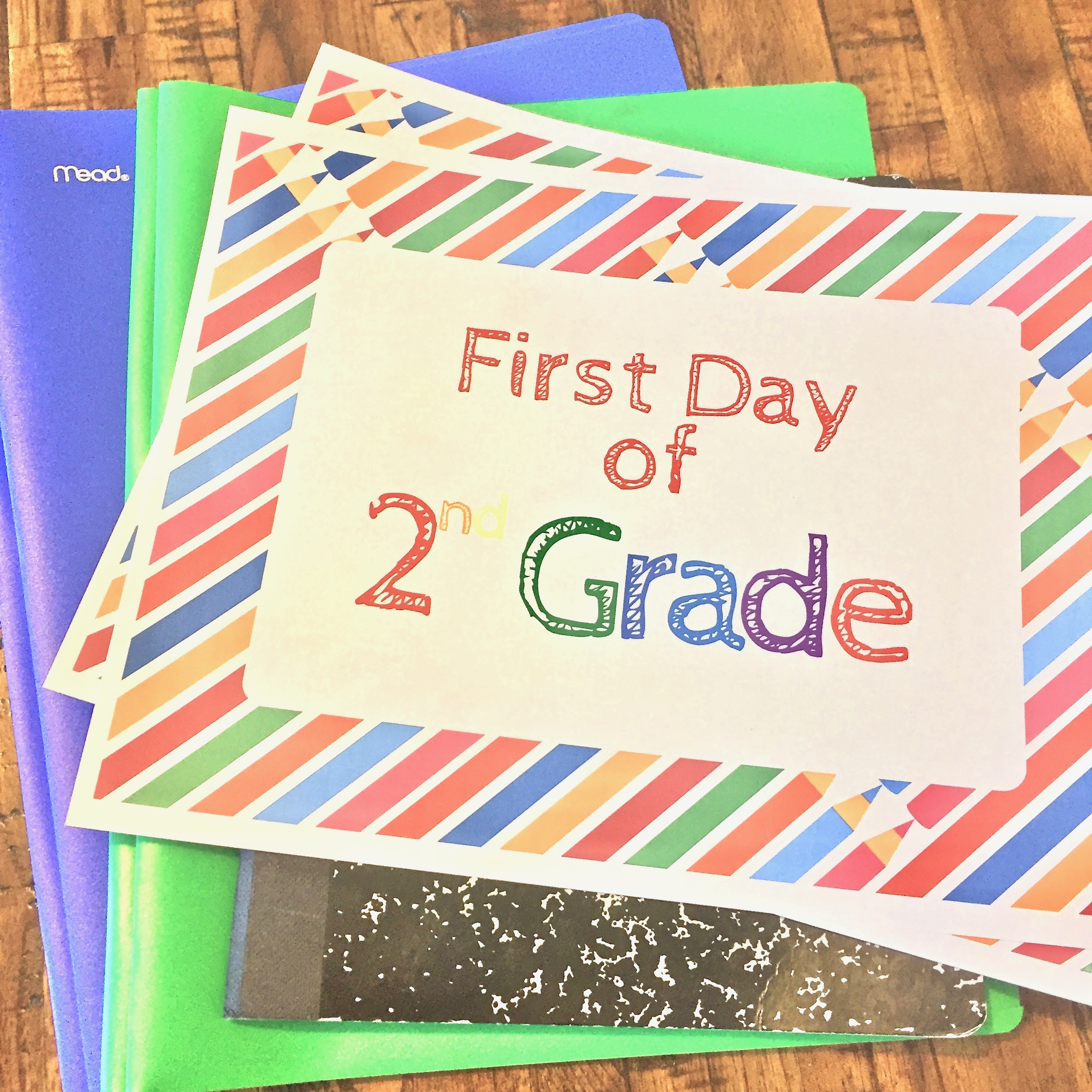 image regarding Free Printable Back to School Signs referred to as Free of charge Printable To start with Working day Of Higher education Indications For Back again Toward Higher education
