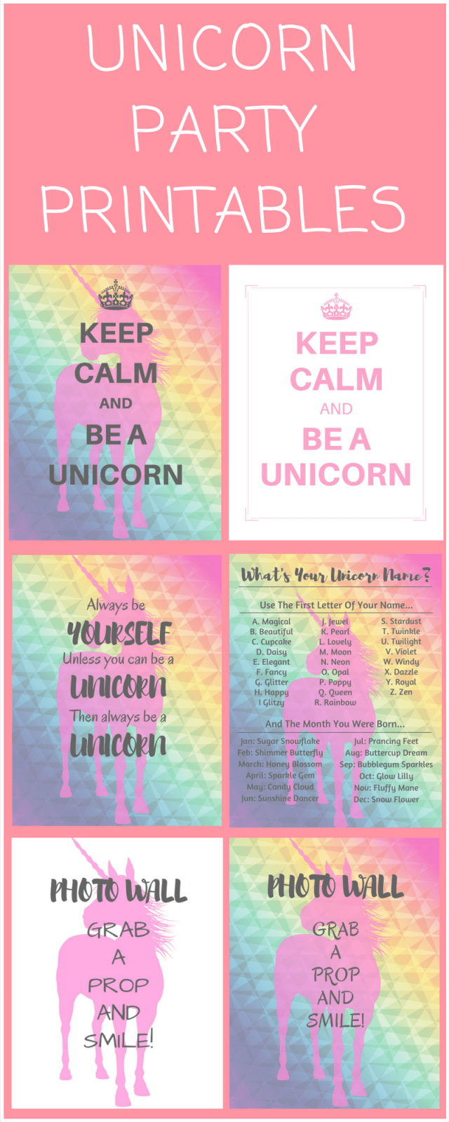 Hilaire image within free unicorn name printable