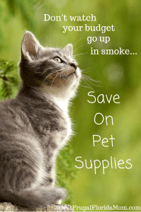 Save on pet supplies