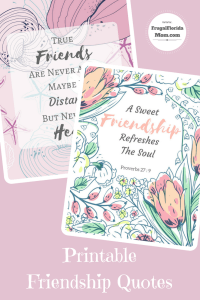 FREE Friendship Quote Printables