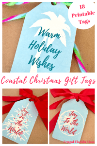 Coastal Christmas Gift Tags
