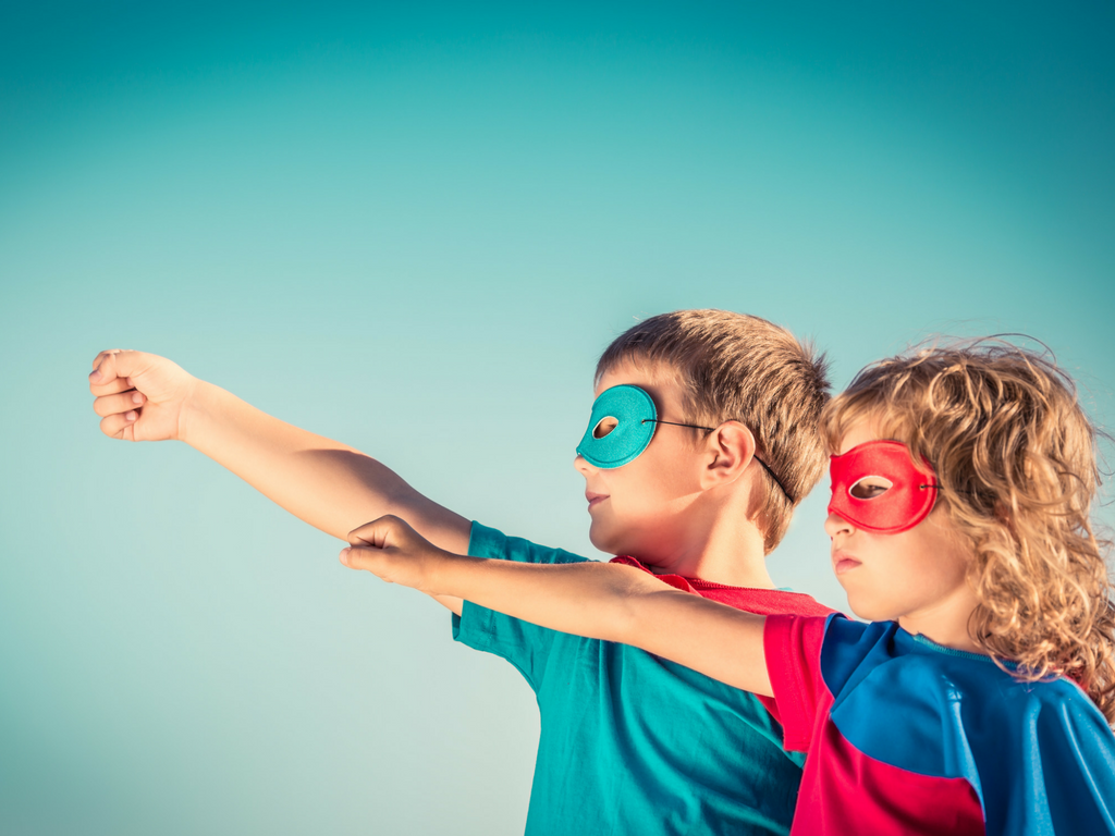 Two children in superhero costumes - What Corporate Managers & Stay-At-Home Moms Have In Common