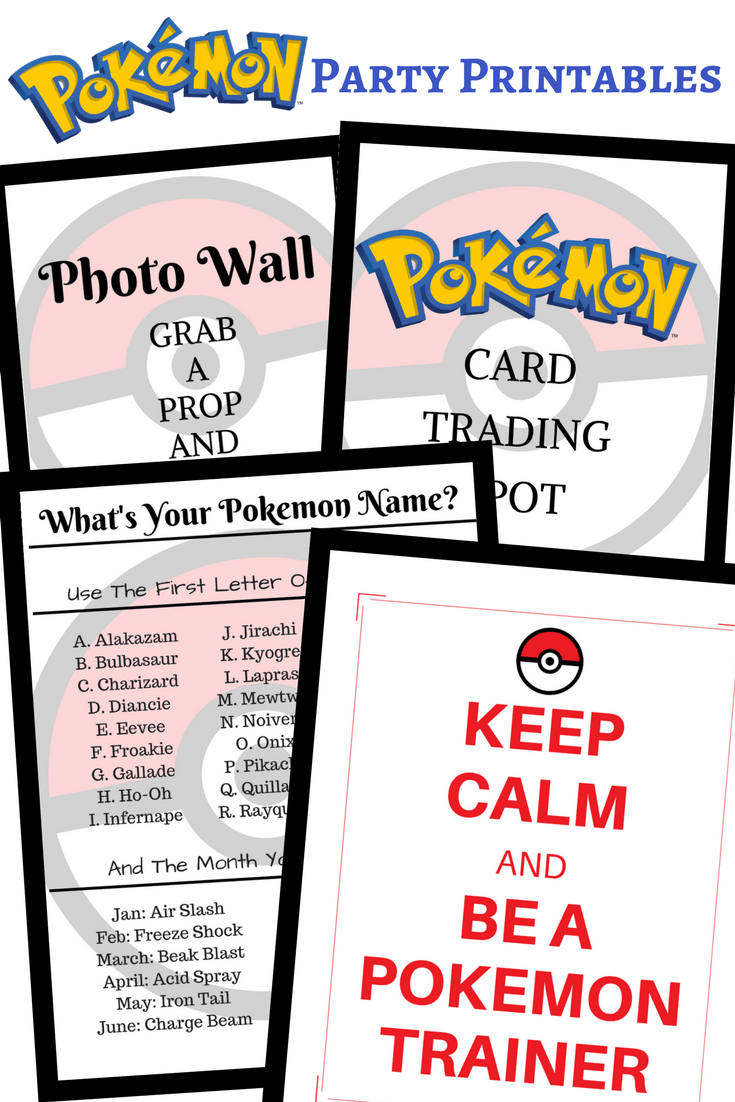 photo about Printable Pokemon Party Games named Pokemon Birthday Social gathering Guidelines Printables - Frugal Florida Mother