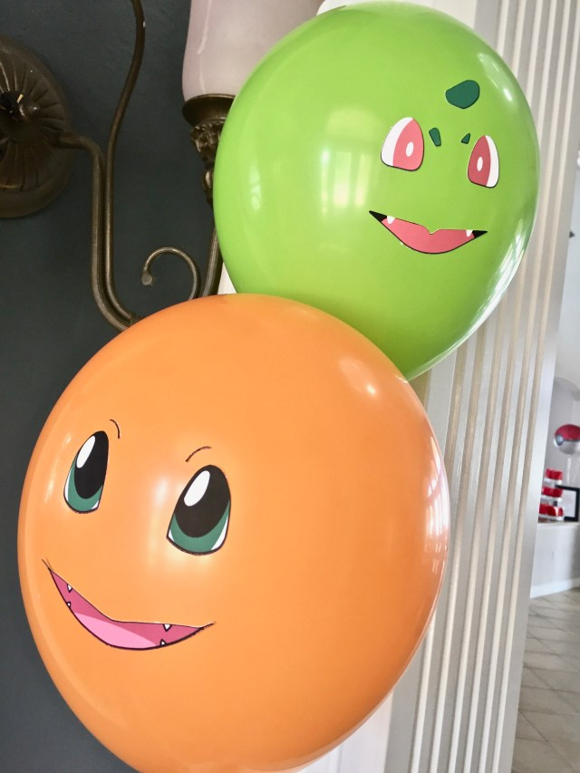 Pokemon character balloons - Pokemon Party Ideas & Printables