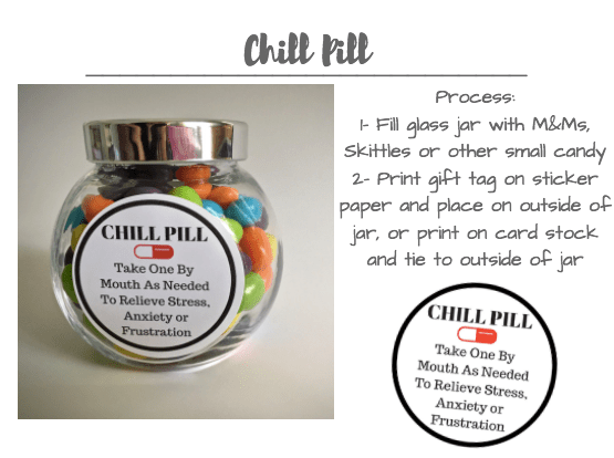 image about Printable Chill Pill Label identified as 10+ Conclude-Of-12 months Trainer Presents - Straightforward Very affordable Recommendations