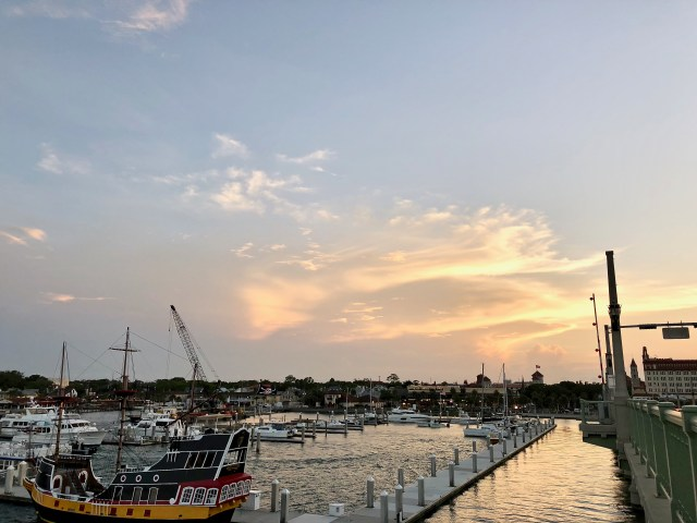 Sunset over harbor - Falling In Love With St Augustine