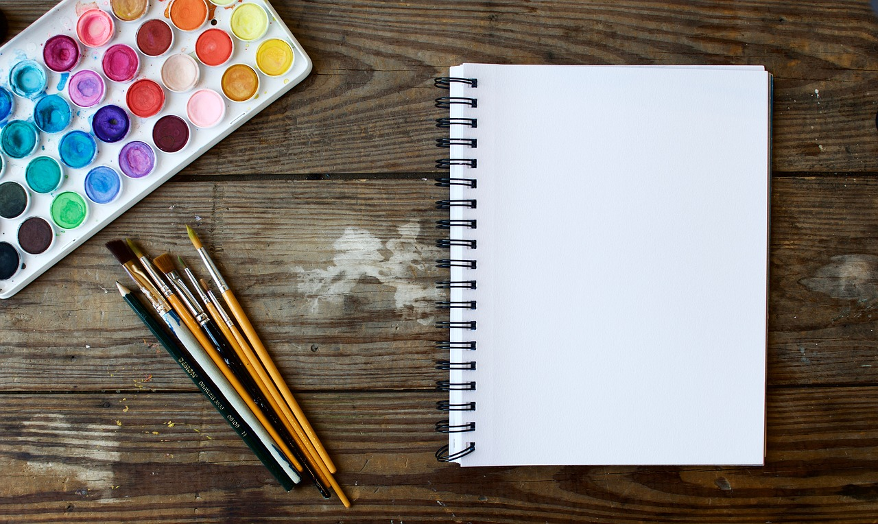 paper and paint on table - Giant List Of Family Activities For A No-Spend Weekend