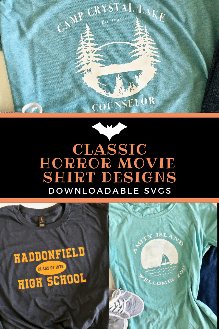 Classic Horror Movie Shirt Designs With SVGs