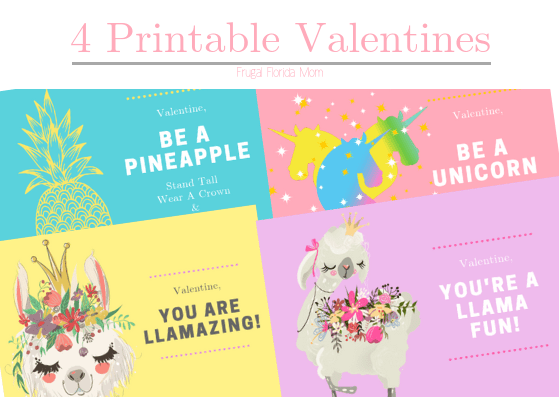 4 Pretty Printable Valentines