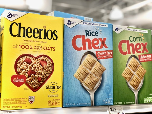 Cheerios and Chex on store shelf - Honest To Goodness Essentials - Plant-Based And Nature Inspired Products On Sale At Publix