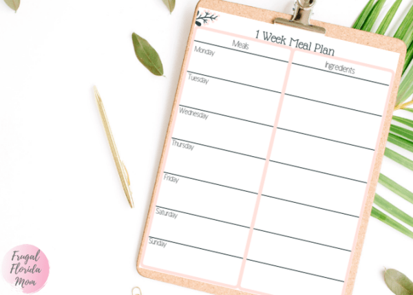 One week meal plan worksheet printable - 20-Page Plan Like A Mother! Printable Bundle