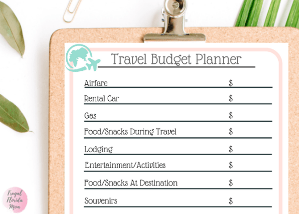 Printable Travel Budget Planner - How To Budget For A Great Travel Experience