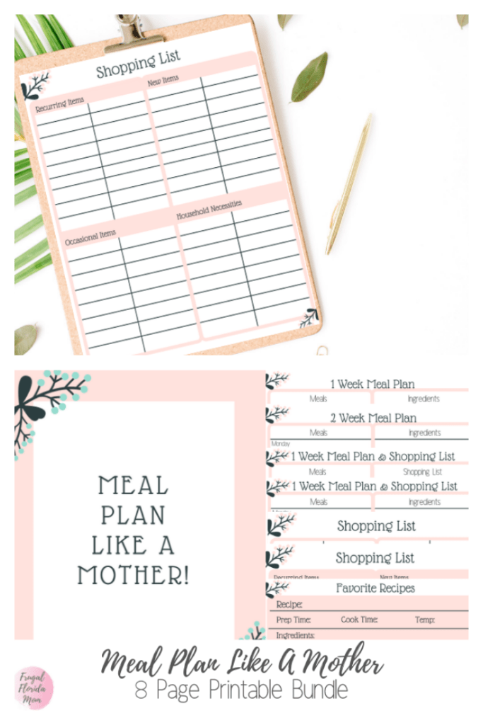 Meal Plan Like A Mother! Printable 8-Page Bundle - 20-Page Plan Like A Mother! Printable Bundle - Frugal Florida MomMeal Plan Like A Mother! Printable 8-Page Bundle - 20-Page Plan Like A Mother! Printable Bundle - Frugal Florida Mom