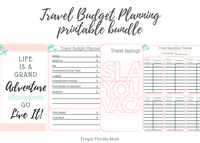 travel budget planning - printable bundle
