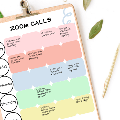 Printable Block Schedules, Zoom Call Organizer, And Special Subject Resources For Homeschooling