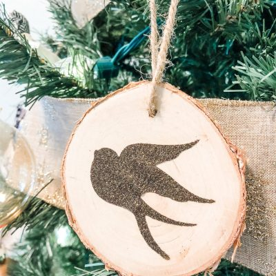 DIY Natural Wood Christmas Tree Ornaments