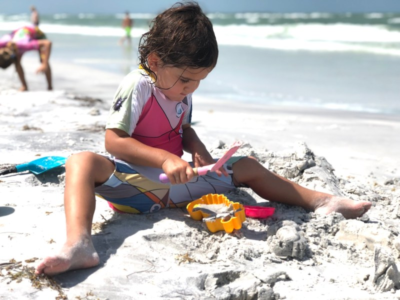 Fort de Soto Beach has very shallow waters, making it the perfect beach to bring little kids