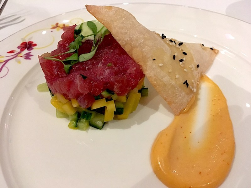 Ahi Tuna on board the Disney Magic. Best foods on Disney Cruise Line