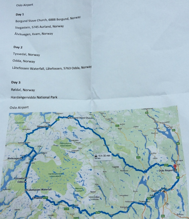 Itinerary 3 days in Norway