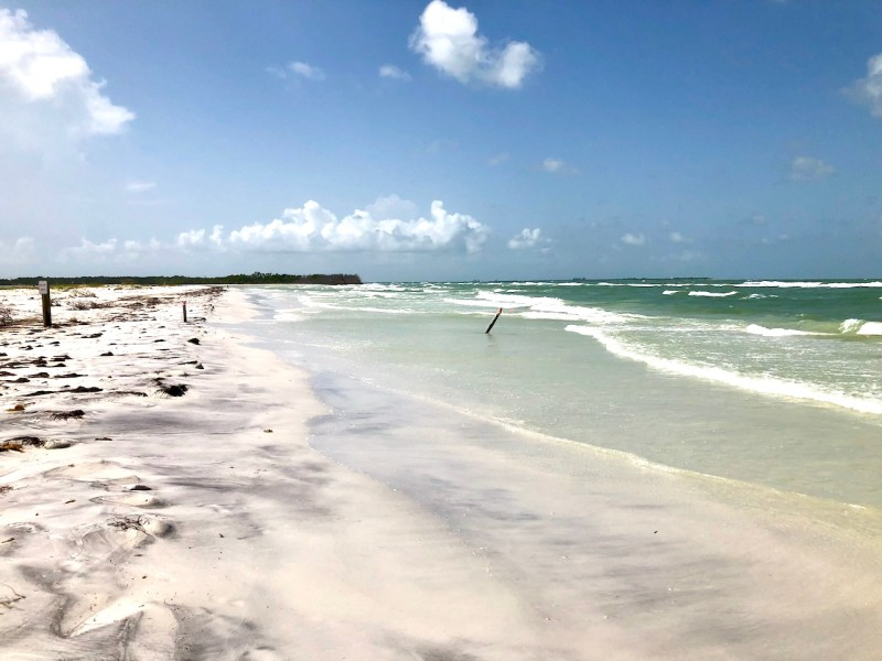 Natural beach at Fort de Soto Beach - best beach within driving distance of Orlando