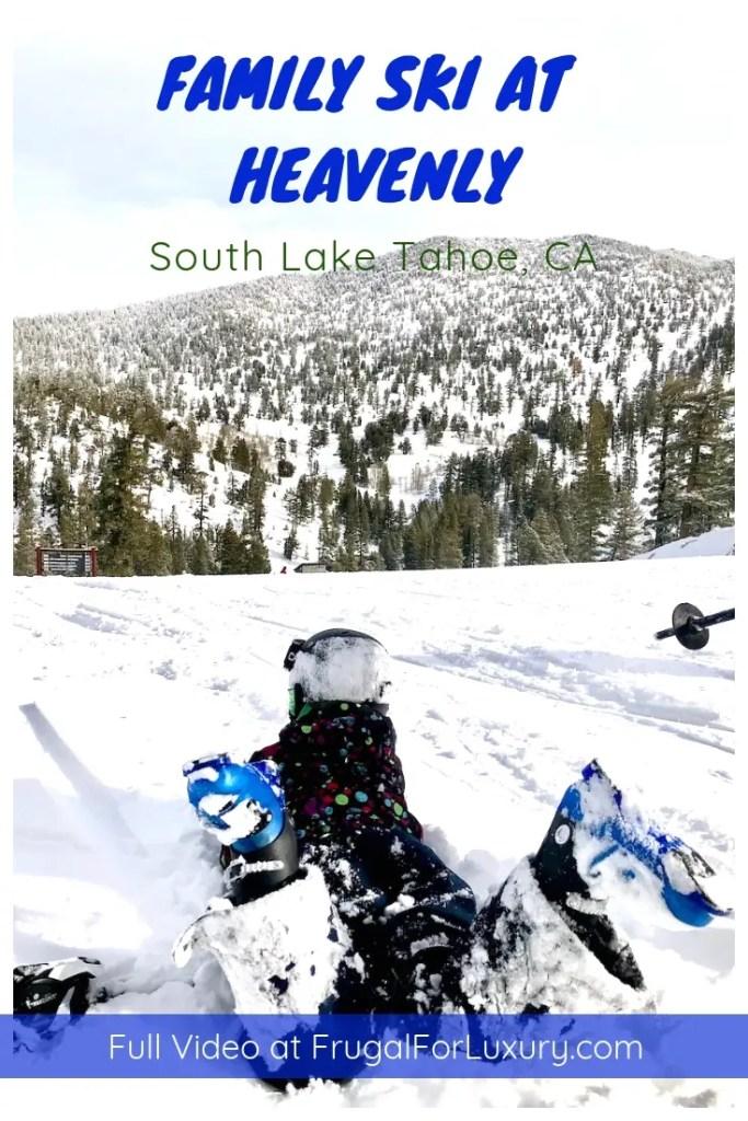 Family Skiing at Heavenly in Lake Tahoe | Ski Lake Tahoe | Ski Heavenly | #laketahoe #ski #familytravel #familyski #bestski #bestskiintheUS #vailresort #USski #skitrip #skidestination #Heavenly #heavenlylaketahoe