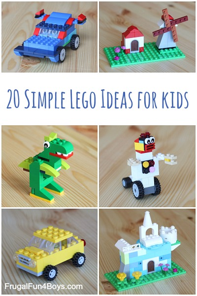 20 Simple Lego Ideas for Kids