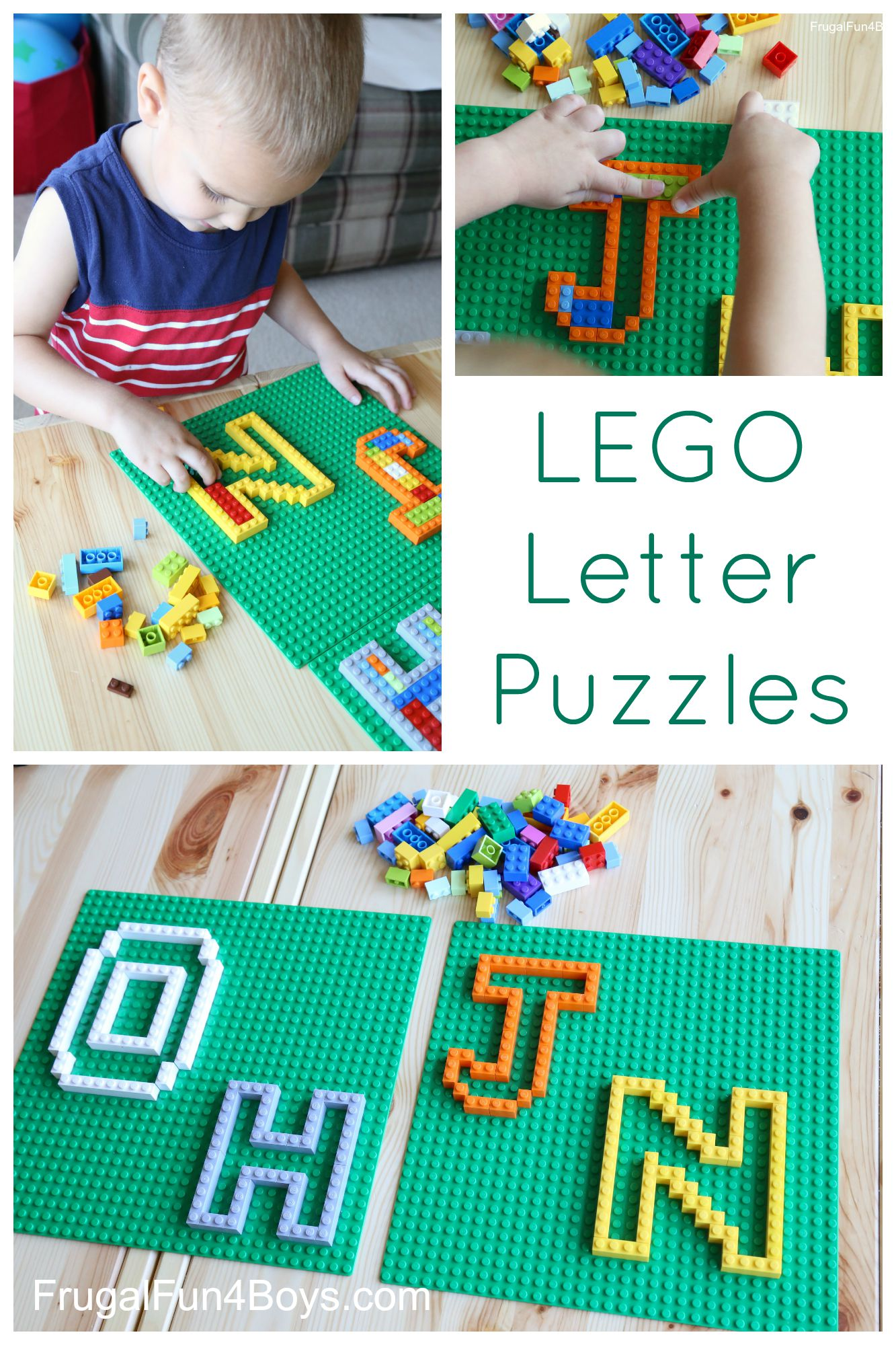 Learning With Lego Letter Puzzles