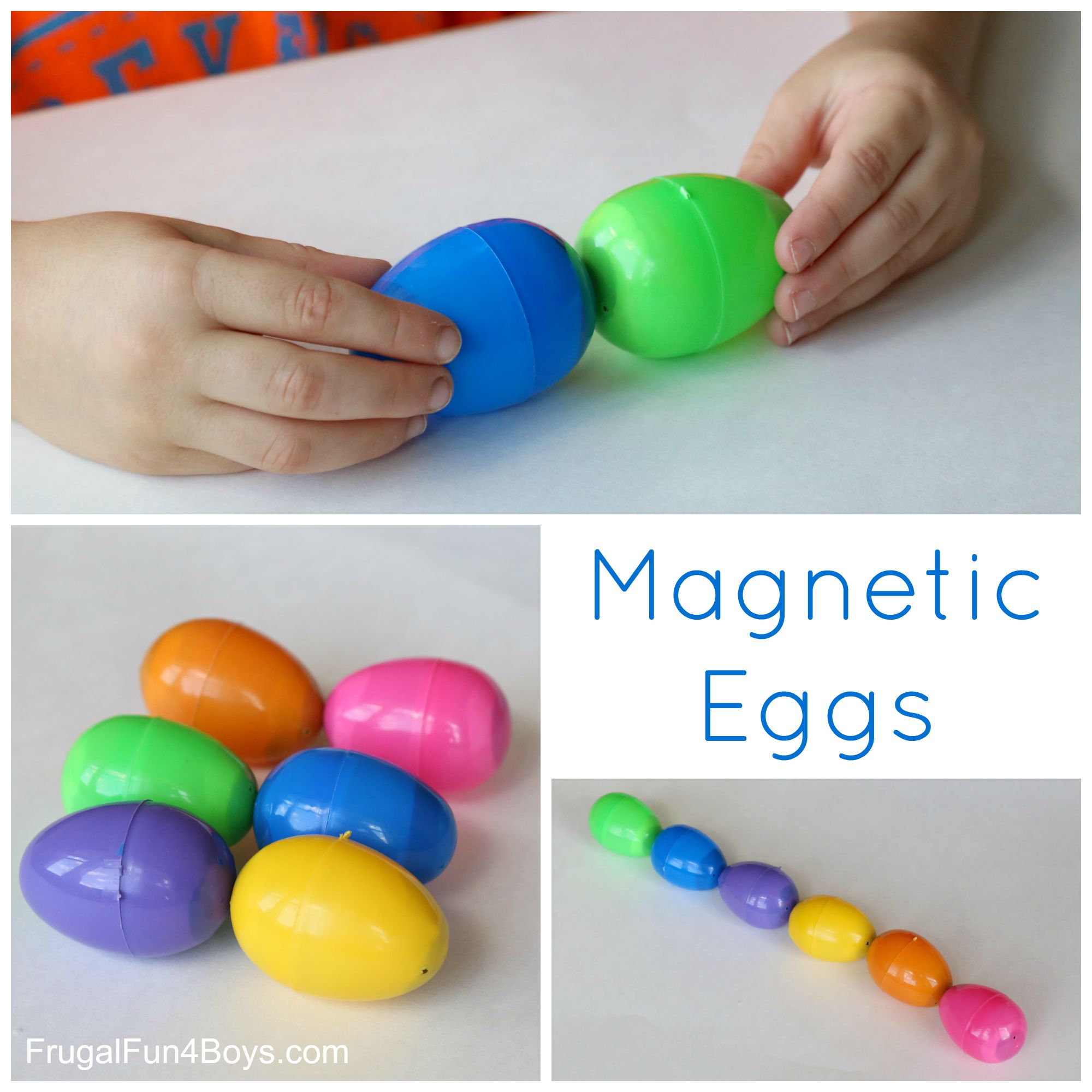Homemade easter gifts for kids everything is homemade diy toy magnetic easter eggs negle Image collections