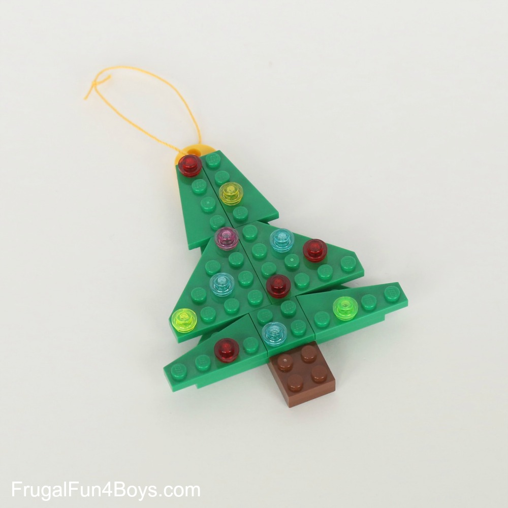 Lego christmas tree decorations instructions for Decoration lego