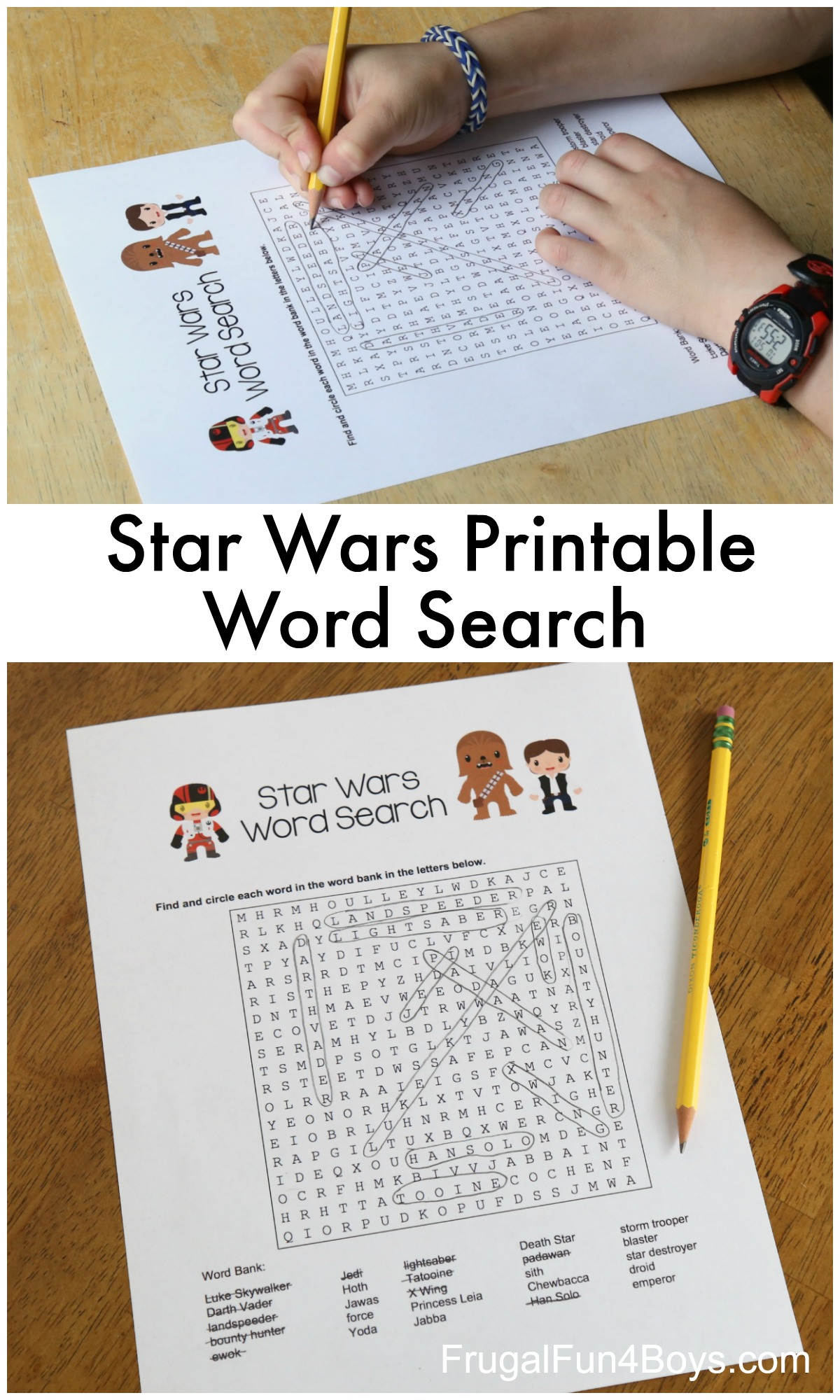 Printable Star Wars Word Search