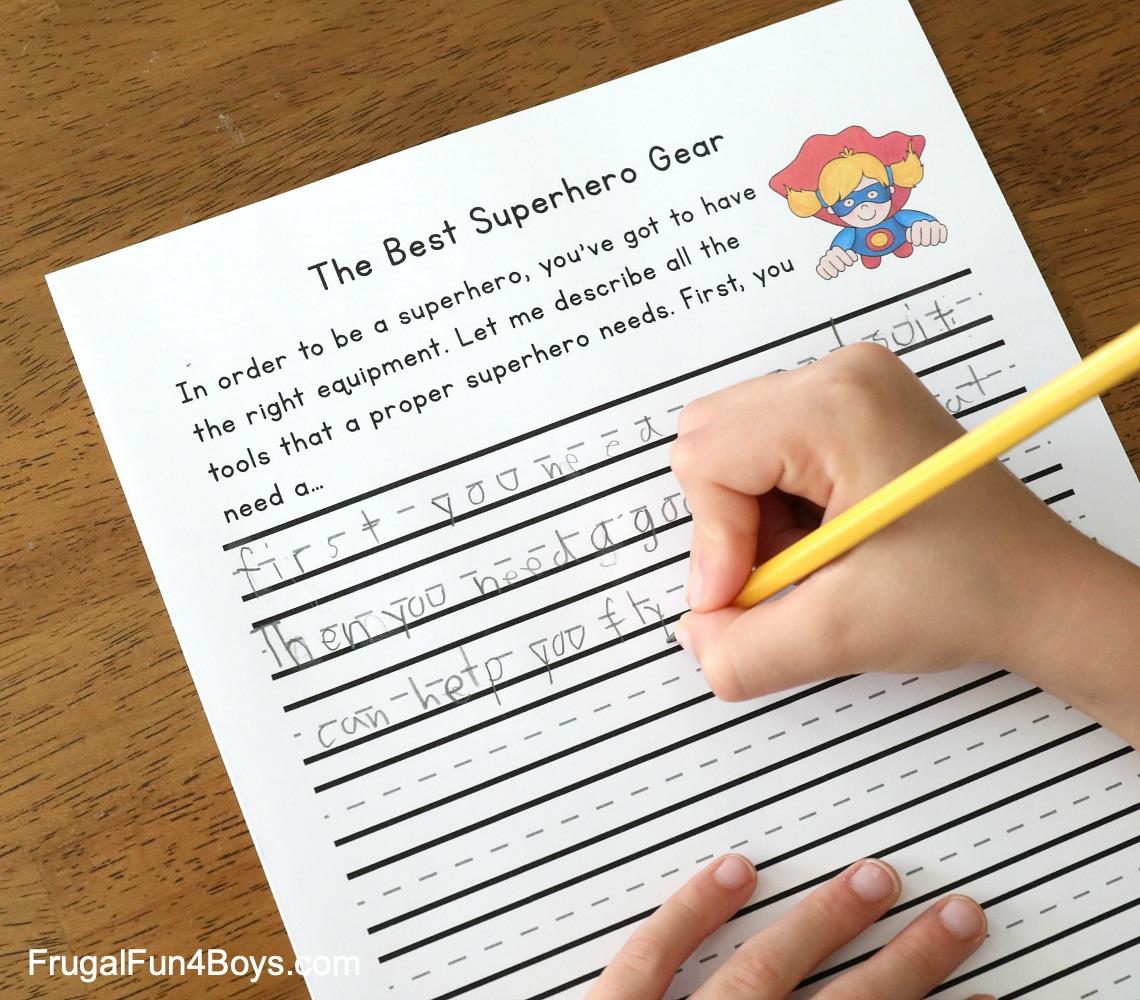 Printable Superhero Writing Starters