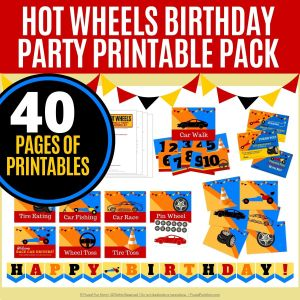 Hot Wheels Birthday Party Printable Pack | Frugal Fun Mom