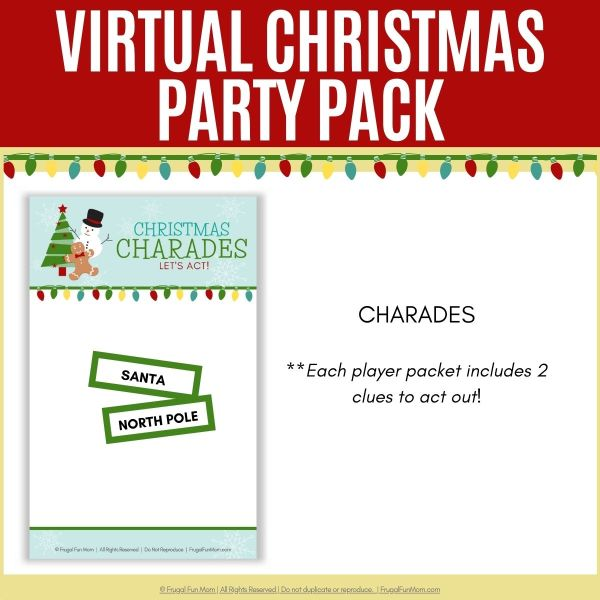 Virtual Christmas Party Pack | Frugal Fun Mom